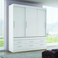 Placard-blanco-y-flex-fucsia-3-puertas-6-cajones-181x200x51cm