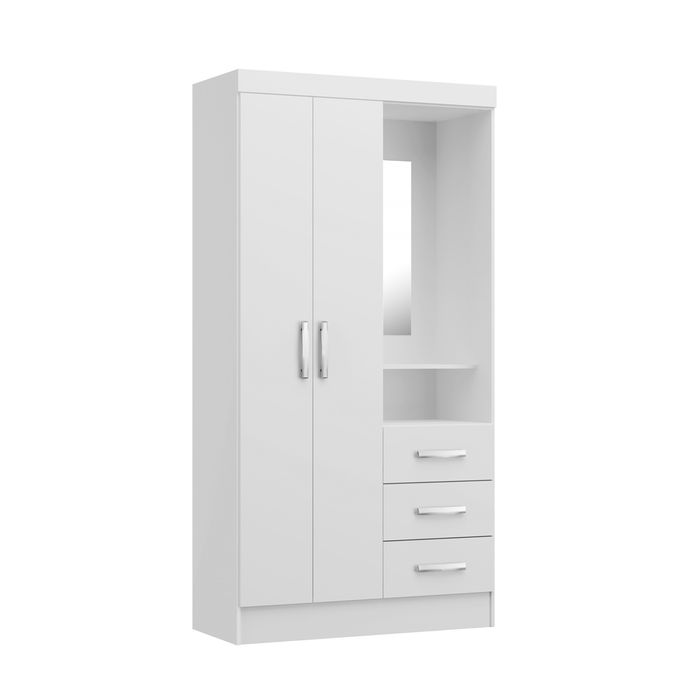 Placard-con-comoda-espejo-blanco-92x186x40cm