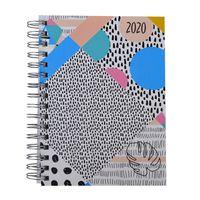 Agenda-C.FILIPPI-Memphis-diaria-2020-con-espiral-y-elastico