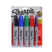 Marcador-permanente-SHARPIE-grueso-4-colores---1-punta-fina-GRATIS