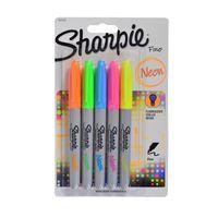 Pack-x-5-Marcador-permanente-SHARPIE-fino-colores-neon