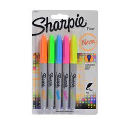 Pack-x-5-Marcador-permanente-SHARPIE-fino-colores-neon