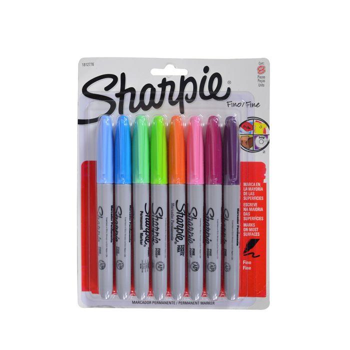 Marcador-permanente-SHARPIE-fino-8un-colores-surtidos