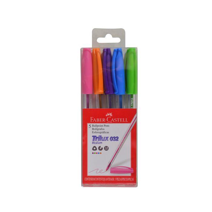 Boligrafo-FABER-CASTELL-5-colores