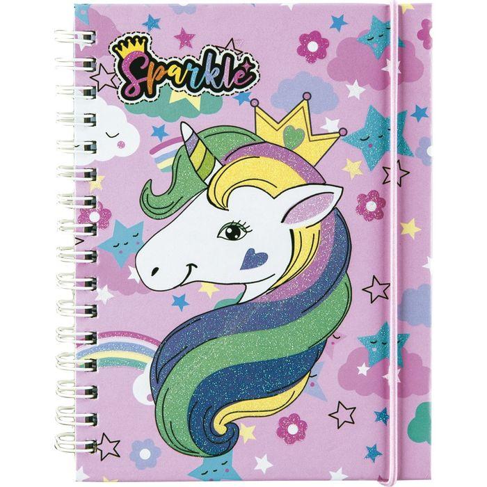 Libreta-de-deberes-tapa-dura-con-elastico-unicornio