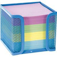 Porta-cubo-de-metal-6cm-con-700-hojas-de-colores