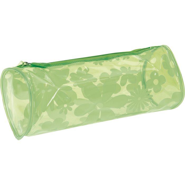 Cartuchera-PVC-transparente-cilindro-6-colores-flores