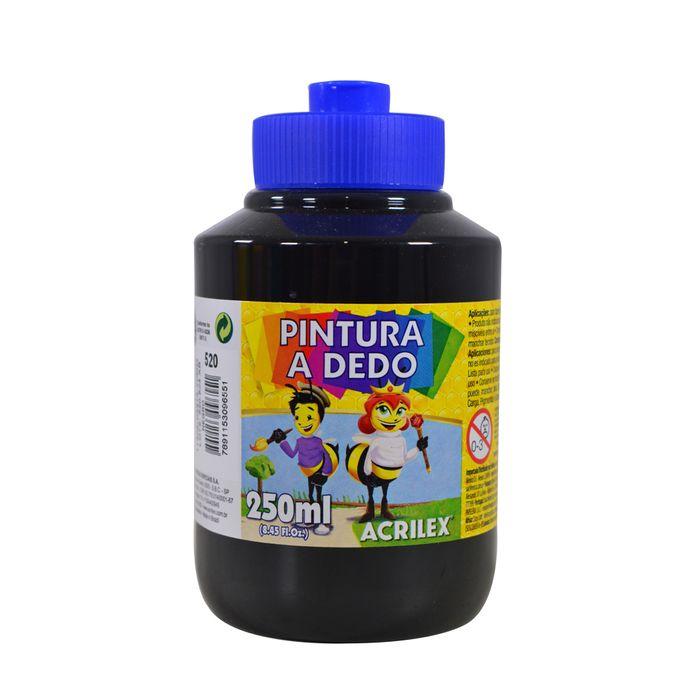 Dactilopintura-ACRILEX-pote-250ml-negro