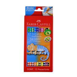 Lapices-de-colores-FABER-BICOLOR-12un-24-colores