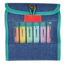 Marcadores-STABILO-SWING-estuche-en-jean-6-colores-pastel
