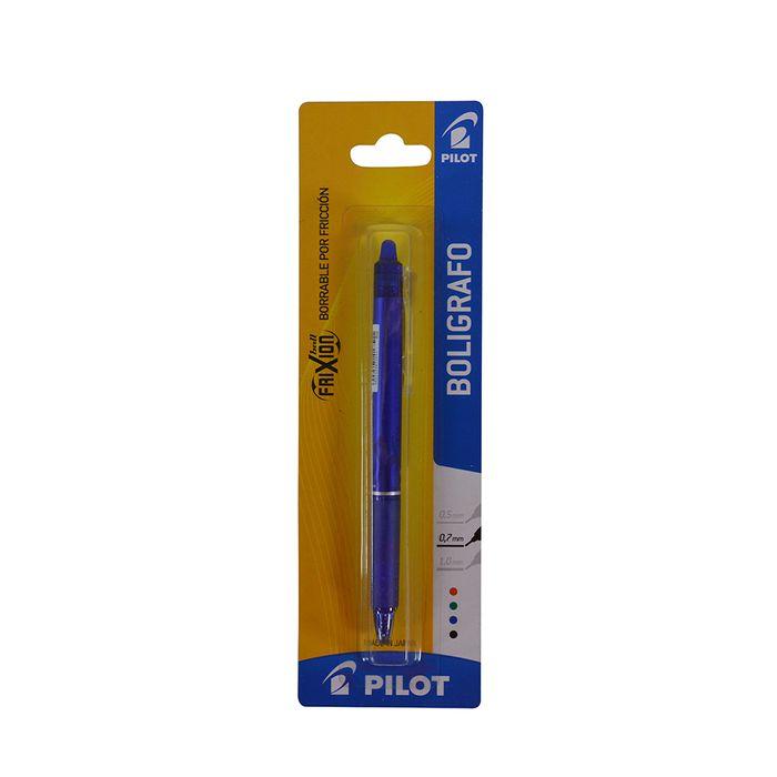 Boligrafo-PILOT-borrable-retractil-azul