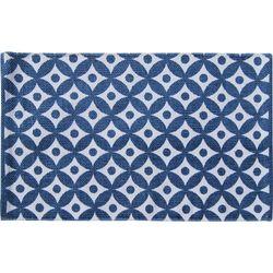 Alfombra-para-baño-40x60cm-blanco-azul-rombo