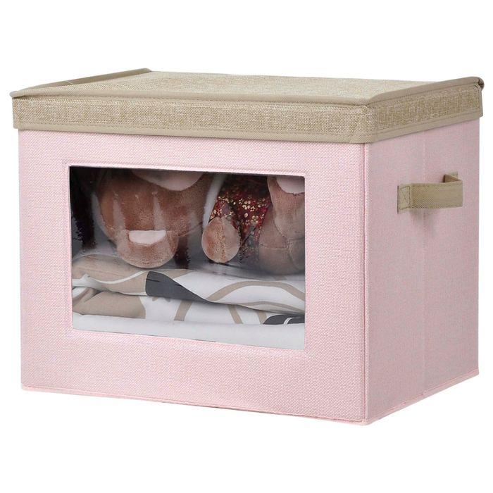 Caja-de-organizacion-con-visor-40x28x30-cm-rosa-beige