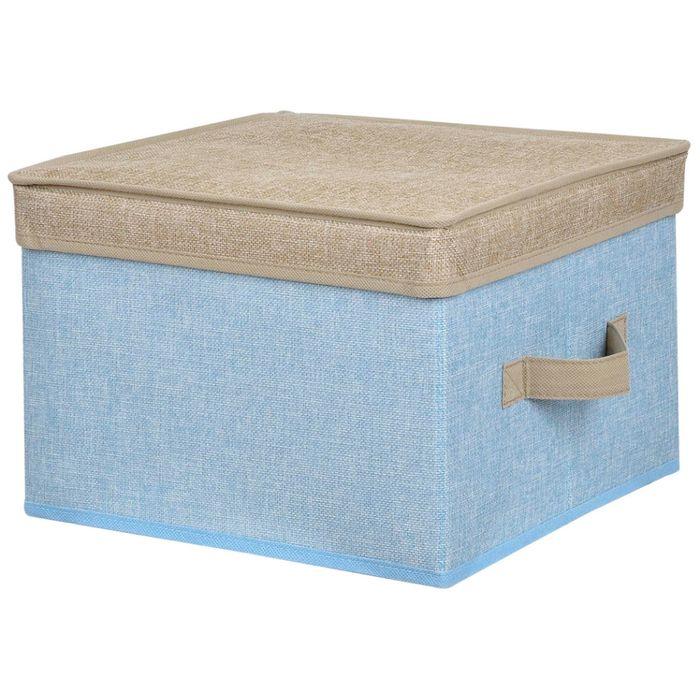 Caja-organizadora-con-tapa-30x30x20-cm-azul-beige