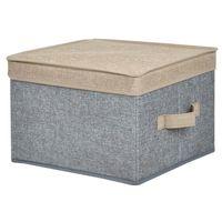 Caja-organizadora-con-tapa-30x30x20-cm-gris-beige