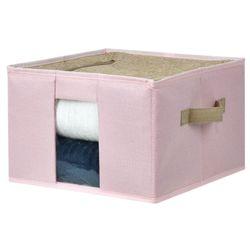 Caja-organizadora-con-estructura-metalica-30x30x20-cm-rosa-beige