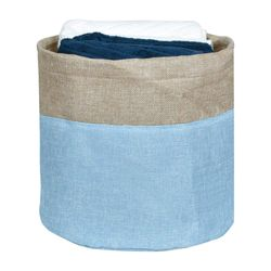 Cesto-organizador-28x26cm-azul-beige