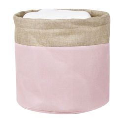 Cesto-organizador-28x26cm-rosa-beige