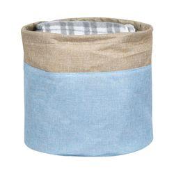 Cesto-organizador-20x20cm-azul-beige