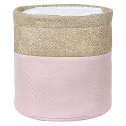 Cesto-organizador-20x20cm-rosa-beige