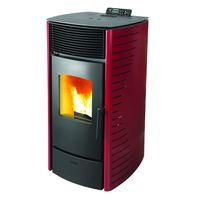 Calefactor-a-pellet-VIVION-HAUS-Mod.-Forte-12-kw-rojo