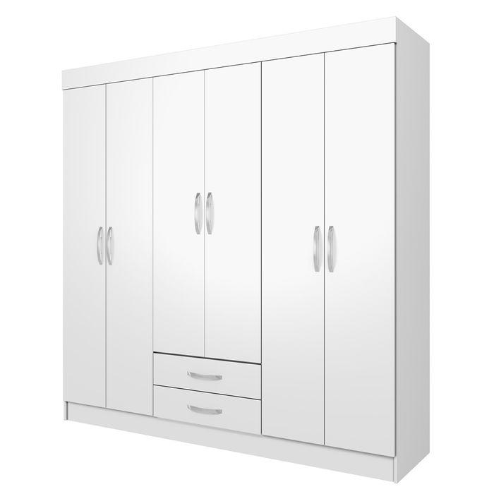 Placard-6-puertas-2-cajones-riel-metalico--Mod.-MDP-12MM-185x180x4-cm