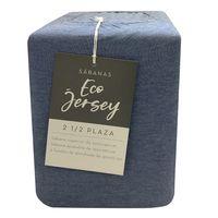 Juego-de-Sabanas-ECO-JERSEY-1-Plaza-color-Azul-Melange
