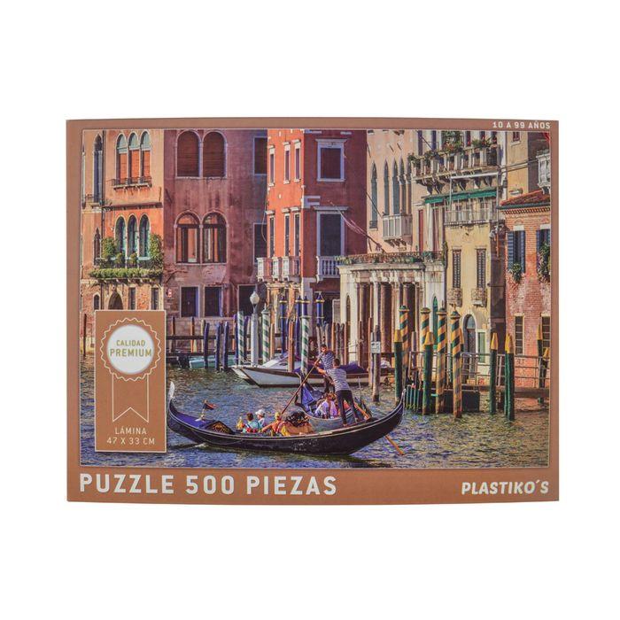 Puzzle-500pzas.-Gondola-Venecia