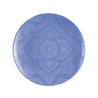 Plato-de-melamina-para-postre-color-azul-mandala-22.9-cm