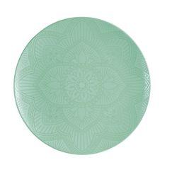 Plato-de-melamina-para-postre-color-verde-mandala-22.9-cm