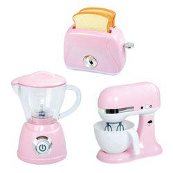 Set-de-electrodomesticos-rosa-licuadora-tostadora-y-batidora