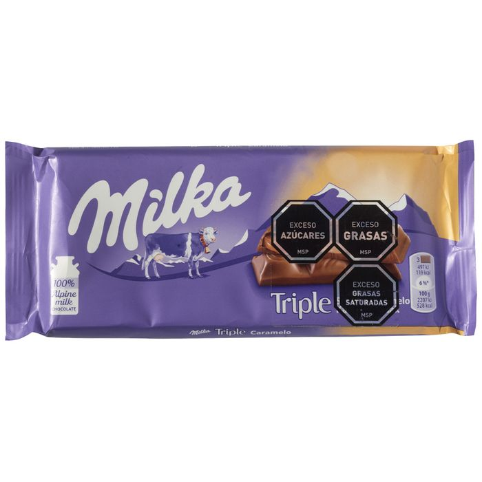 Chocolate-MILKA-triple-caramel-90-g