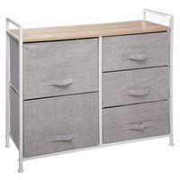 Mueble-con-5-cajones-gris-claro