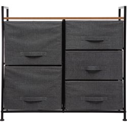 Mueble-con-5-cajones-gris-oscuro