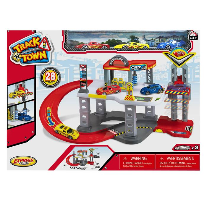 Playset-estacion-de-bomberos-con-vehiculos-de-metal