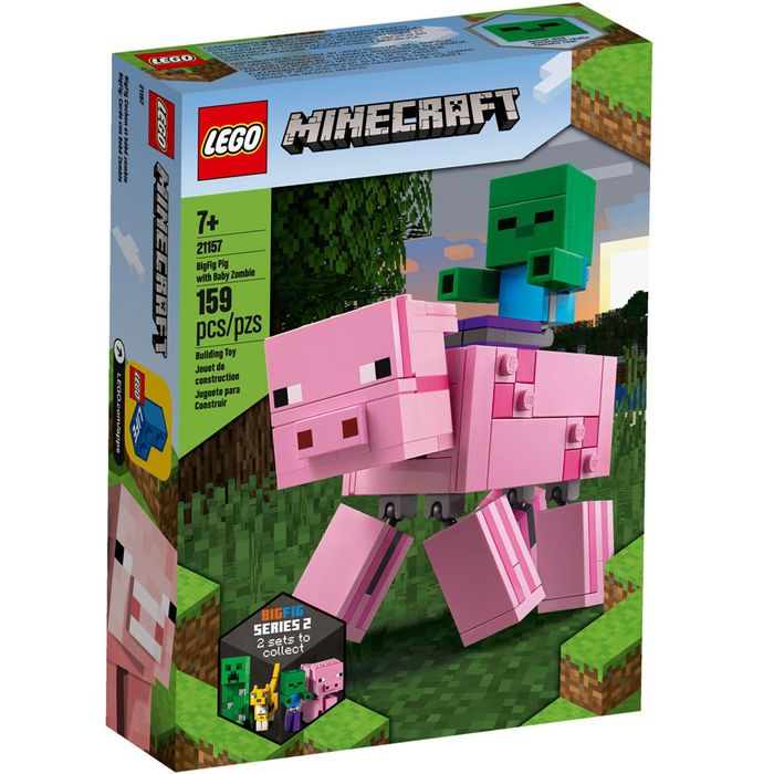 Lego-Minecraft-Big-Fig-Pig-with-baby-zombie