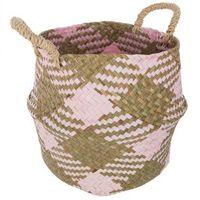 Canasta-de-seagrass-con-rosa-28x28x25-cm