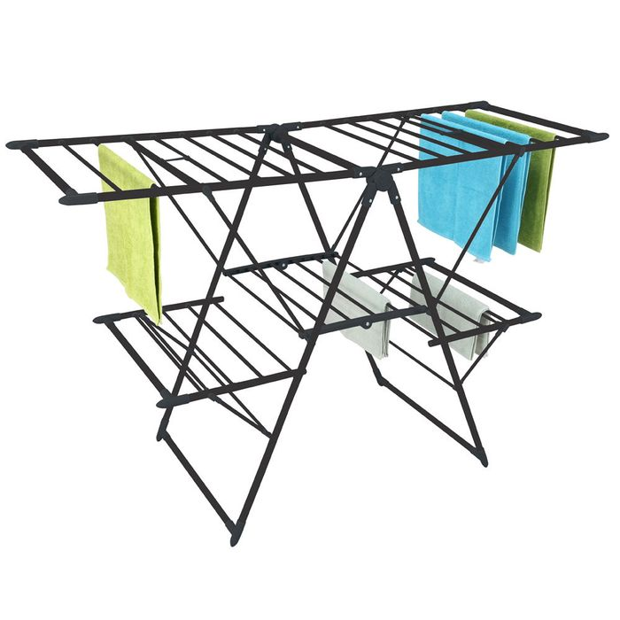Tendedero-acero-negro-brillante-154x62x99cm