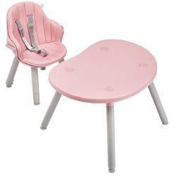 Silla-de-comer-BEBESIT-convertible-a-escritorio-rosa