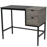 Escritorio-2-Cajones-negro---madera-100x48x76-cm