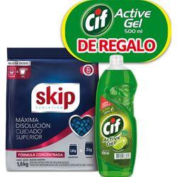 Pack-detergente-polvo-SKIP-evolution-concentrado-18-kg---detergente-CIF-500-ml