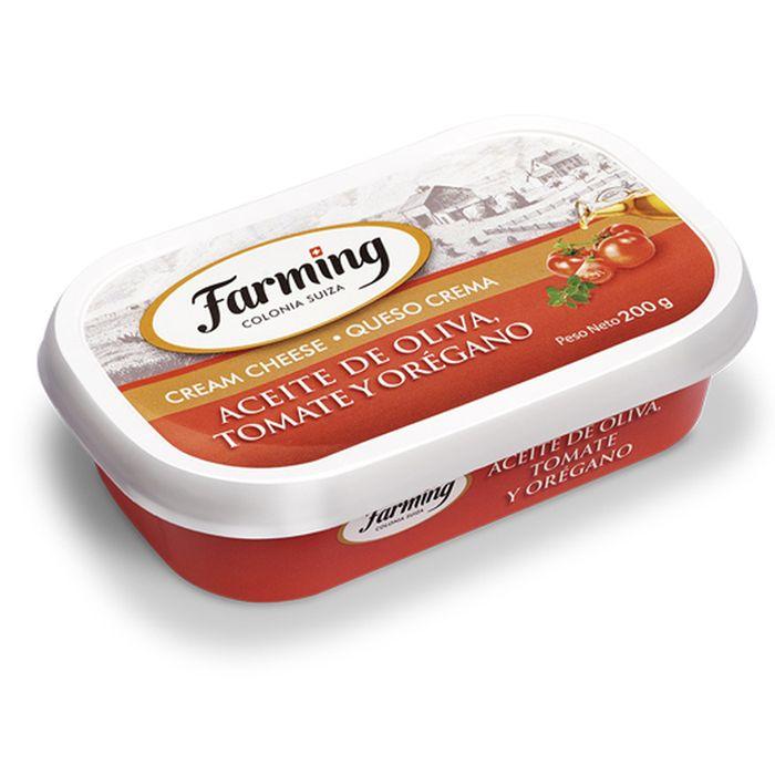 Queso-crema-oliva-tomate-y-oregano-Farming-200-ml