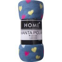 Manta-polar-HOME-2-plazas-200-x-225-cm-azul-con-corazones