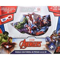 Puzzle-con-forma-48-piezas-efecto-3D-Avengers
