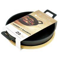 Mini-wok-d12.5x16.5-cm-hierro-con-base-bambu
