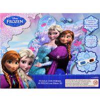 Puzzle-con-forma-48-piezas-efecto-3D-Frozen