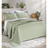 Cubrecama-DOHLER-160x250-cm-con-funda-50x70-cm-verde