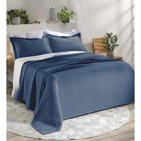 Cubrecama-DOHLER-160x250-cm-con-funda-50x70-cm-azul