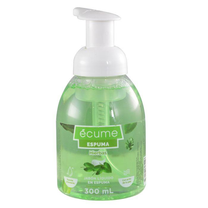 Jabon-liquido-en-espuma-ECUME-Hierbas-fc.300-ml
