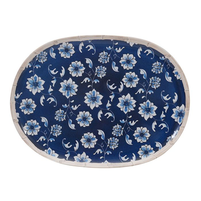 Fuente-oval-melamina-35.6-cm-vintage-azul
